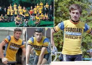 vtg 1980 IJSBOERKE wool cycling jersey koga miyata warncke eis maillot 2 XS S