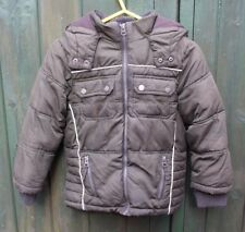 Boys TU (Sainsbury's) Autumn /Winter Coat with Hood Age 6 yrs 116cm Colour Green