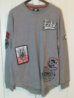 ECKO UNLTD Men Logo Long Sleeve Shirt Grey Marled Large NWT MSRP $37 EU217-KO2