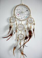 NEW HANDMADE NATIVE AMERICAN INDIAN STYLE DREAM CATCHER CREAM /dcny11trishellcre