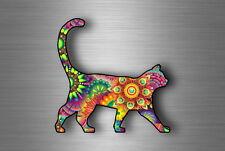 sticker car macbook cat vintage colourful car mandala rainbow pets yoga