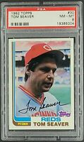 1982 Topps #30 Tom Seaver Cincinnati Reds HOF PSA 8 NM-MT
