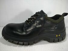 ECCO MEN'S  GORE-TEX BLACK LEATHER LACE UP SHOES SIZE 40 US 7 TO 7.5 , 3DS SHOCK