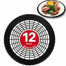 Stock Your Home 9 Paper Plate Holder in Black (12 Count) - Paper Plate Holders