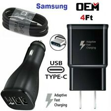 Original Samsung Galaxy S8 S9 Plus Note 8 OEM Fast Car Wall Charger Type-C Cable