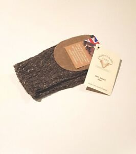 Highland 2000 100% New Wool Mittens with Suede - Made in England - Dark Brown