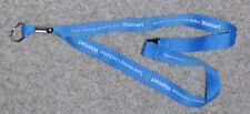 WAL-MART  LANYARD BREAKAWAY LIGHT BLUE COLOR NEW WHITE LETTERS