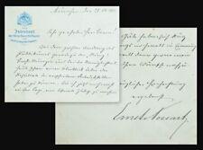 1903 Richard Wagner Ring im Prinzregententheater Possart Handschriftlicher Brief
