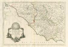 """""""SEZIONE MERIDIONALE de L'état DE L'EGLISE..."""" LAZIO. SANTINI/Boscovich 1784 Mappa"""