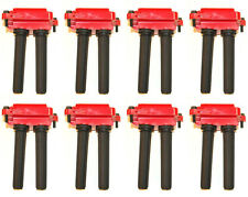 UF504 RED Ignition Coil Set of 8 for 5.7L 6.1L V8 Hemi Chrysler Dodge Jeep Ram