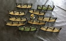 Wargame Terrain 28mm Barbed Wire Fence Set Hand Made.