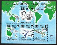 """ISOLE SALOMONE - 1992 - FOGLIETTO SERIE """"COLOMBO 500° SCOPERTA AMERICA"""" - (MLH)"""