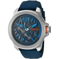 Hugo Boss Men's Classic Quartz Stainless Steel/Blue Silicone Watch 1513376