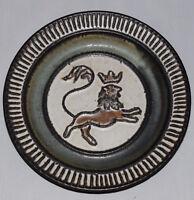 Kingo Keramik design Wallplate Lion  60s 70s artpottery WGP  Vintage midcentury