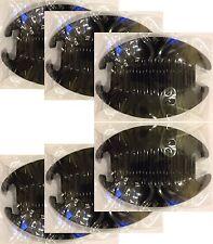 Lot of 6 Jumbo Interlocking Jaw Thick Hair Comb Banana Clip Extra Large Black