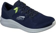 Skechers Mens Ultra Flex 2.0 Kerlem Sports Trainer Navy/Lime
