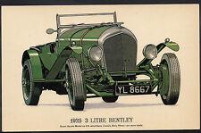 Vintage Motor Cars Postcard - 1925 3 Litre Bentley Car   DR65