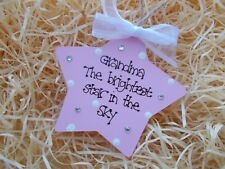 Condolence In Memory Brightest Star Wooden Plaque Gift Keepsake