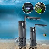 1200L/H Submersible Aquarium Fish Tank Pump Internal Spray Filter Filtration New