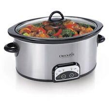 Crock-Pot 7-Quart Smart-Pot Slow Cooker, Brushed Stainles W