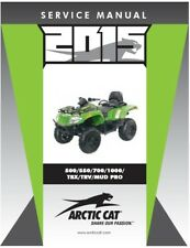 2015 Arctic Cat ATV 500 550 700 1000 TBX TRV Mud Pro service manual in binder