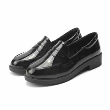 Fashion Women Student Lolita Low Heel Round Toe Loafers Shoes Flat Slip On Shoes