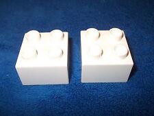 LEGO DUPLO SCHLOSS RITTERBURG 2 X 4er NOPPEN STEIN 4777 + 4988 + 4785 WEISS NEU