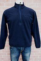Men's Timberland 3/4 Zip Sweatshirt Black Long Sleeves Shirt Size M