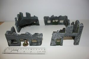 Armorcast Ruined Building Corners (cool terrain, ready to play)