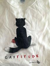 Xl Cattitude Tee T-Shirt (Unisex) Lover Mens Womens