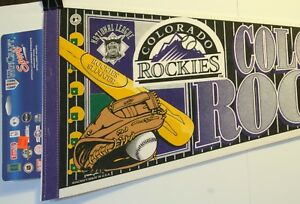 "Colorado Rockies 30"" Pennant Full Size New MLB Baseball Wincraft"