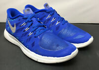 Nike Running Free 5.0 Military Royal Blue White 644428 Size 6 Boys or Womens 7!