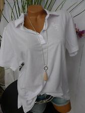 Paola Shirt Poloshirt Tunika Damen Gr. 48 bis 54 Kurzarm weiß (145)