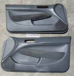 1996-2000 Honda Civic Coupe Factory Door Panels OEM Rare EM1 EK Si HX