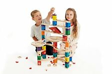 Hape E6004 Quadirlla Whirl And Twirl Wooden Marble Run Construction Set For Kids