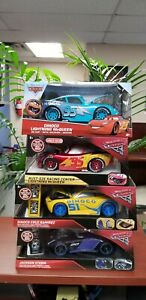 Jada Toys Disney Pixar Cars Diecast Dinoco, Jackson, Rust Eze, Lightning McQueen