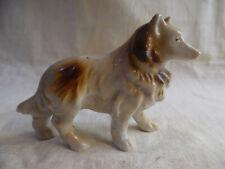 Vintage Dog Figurine Collie Ceramic Japan