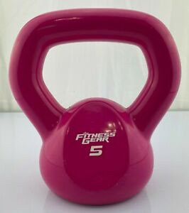 Used 5lb Kettlebell Rubber Coated Home Fitness Workout Kettle Bell Fitness Gear