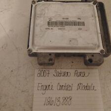 2007 07 Saturn Aura 3.5L Pcm Ecm Ecu Engine Computer Control Module 12613888