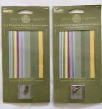 2 Anna Griffin Old Paris Palette II Silk Ribbon & Floss packages Bucilla