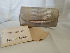 Judith Leiber silver clutch with gold accents