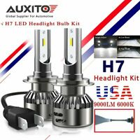 AUXITO 2X 16000LM H7 LED Headlight Kit High Power HID 6000K White Bulb Headlight