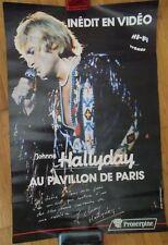 AFFICHE VIDEO ORIGINALE JOHNNY HALLYDAY pavillon de paris 1979 PROSERPINE 40X60