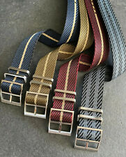 Premium (Tudor Style) Luxe Nylon - Single Pass Nato watch Straps - 20/22mm