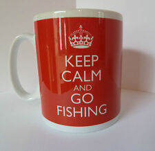 NEW KEEP CALM AND GO FISHING CARRY ON GIFT MUG CUP FISHERMAN ROD FLASK