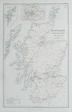 1881 Scotland Map To Illustrate the Pauperism of the People Poor Paupers