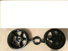 Tamiya Jaccs Civic Black Wheel Set (2) NEW OLD STOCK