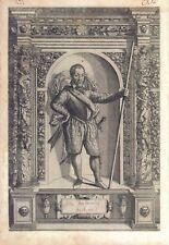 Astor Baleonius Baglioni - Incisione originale G.B. Fontana, D. Custos 1600
