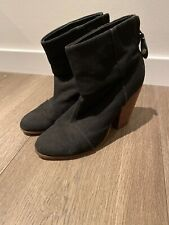 Rag & Bone Womens Rounded Toes Ankle Boots Black Zip Closure Size 39.5 9.5
