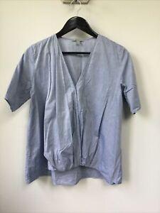 Gorgeous Ladies Cos Blue Gathered Top, UK Size 8, EU 36, Good Condition